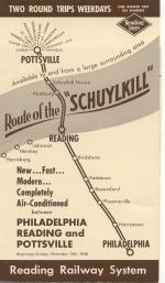Route to Schuylkill schedule