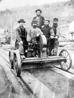 Section Gang on hand trolley, 1870