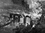Burning Of The Lebanon Valley Railroad Bridge By The Rioters