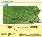 Map of Toll Roads and canals.