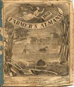 Cover of 1853 Farmers Almanac, Philadelphia, John B. Davis