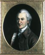 Oil on canvas of John Dickinson, head and shoulders.
