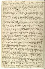 Page from Journal of William Maclay, April 30, 1789, [original journal].