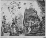 """This political cartoon is allegorical, full of birds, snakes, animals, and people depicted as animals. Detail of a proposed attack on the Pennsylvania Constitution, pictured as a fort with figures hoisting telescopes, peering down from the fortress. A satyr lifts a figure with the face of Hamilton. The accompanying text, """"Follow me up boys, I will be governor. This constitution is too democratic. The people are not virtuous enough to enjoy such liberty. We are the Gentleman's party and will keep down those Plae-beans."""""""