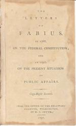 The frontpiece of Fabius, in 1788, on the Federal Constitution; and in 1797 on the Present Situation of Public Affairs.