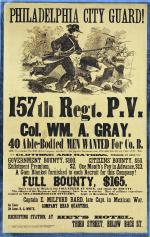 Philadelphia City Guard poster, 1863.