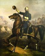 John Geary on horseback.'