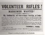 Marksmen Wanted Bucktail recruiting broadside.