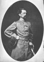 Knee length photograph of  John B. Gordon with black hat and sword.