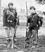 Photograph of two members of the 22nd NY Militia.