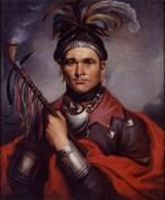Oil on canvas portrait of Chief Cornplanter.