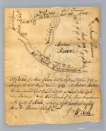 Andrew Montour's efforts to transform himself from an Indian interpreter into a wealthy landowner in western Pennsylvania are reflected in this 1769 survey of the 1,080 acres that Montour had received in Berks County the year before.