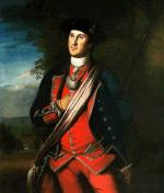 This early portrait of Washington depicts him as an officer in the Virginia militia.