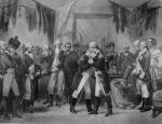Washington's tearful farewell to his officers in New York's Fraunces Tavern in December of 1783.