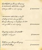 Facsimile of a Bill of Sale