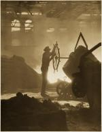 Image of a Steelworker in iron foundry.'