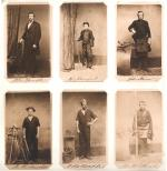 Lyon, Shorb and Company album page. The photographs depict the owners and employees of the company. On this page six facsimile representative carte-de-visites are presented.