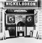 Image of the entrance of the Nickelodeon Theater.