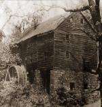 George Washington's Grist Mill as it appeared in the late 19th or early 20th century