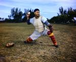 Roy Campanella in catcher's gear