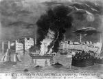 """Burning of the Frigate Philadelphia in the Harbour of Tripoli, 16th Feb. 1804…,""Aquatint engraving by F. Kearney, 1808."