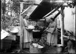 Fegley photo, Women preparing apple butter