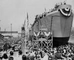This photograph was taken at the launch of this ship on Memorial Day, 1944.