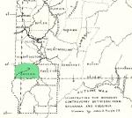 Green County highlighted on the map of Counties incorporated from 1784 Pennsylvania land purchase.