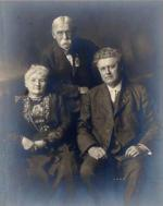 Group portrait of Mother Mary Jones, Terence Vincent Powderly and John P. White, International President of United Mine Workers of America, UMWA, 1912-1917