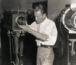 Philo Farnsworth Adjusting Television Camera