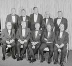 "The recipients are pictured with Governor Raymond P. Schafer. Left to right are: (front) Dr. Herbert K. Cooper, Life Sciences award; Richard K. Mellon, Industrial Leadership award; Governor Shafer; Commander Charles ""Pete"" Conrad, Jr., Science and Technology award; Dr. Roy F. Nichols, Education award; (Rear) James Stewart, Performing Arts award; Stan ""The Man"" Musial, Athletics award; Reverend Leon Sullivan, Human Relations award; James Michener, Creative Arts award; and Walter Annenberg, Journalists award."