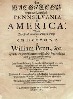 Image of 1681 title page of William Penn's invitation to Pennsylvania–written in German