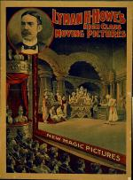 Colorful film poster depicting an audience watching a movie in progress.