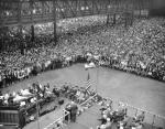 East Pittsburgh Westinghouse Plant Workers at a Rally for Full Production During World War II.