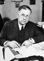Harold L. Ickes, seen here at his desk in his office.