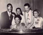 Billy Eckstine (on the right) with a whos who of Pittsburgh Jazz musicians, circa 1946-1950.