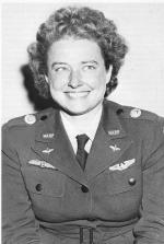 Black and white image of Helen Richey in her WW II service uniform.