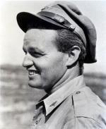 Black and white hotograph of Cochran in uniform, profile.