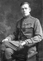 George C. Marshall as a young officer wearing his cadet uniform.