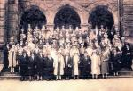 Outdoor group image of graduates.