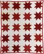 Red Ohio Star Signature Quilt