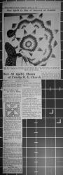 Detroit News, Star Quilt Is One of Interest at Exhibit. Over 80 Quilts Shown at Trinity M.E. Church, April 17, 1934